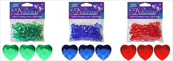 Decor Dimante - 12mm Hearts