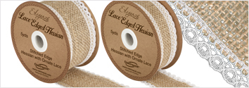 Lace Edged Hessian