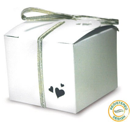 Gift Box Heart Pearl White (pack 5pcs) - Gift Boxes / Bags