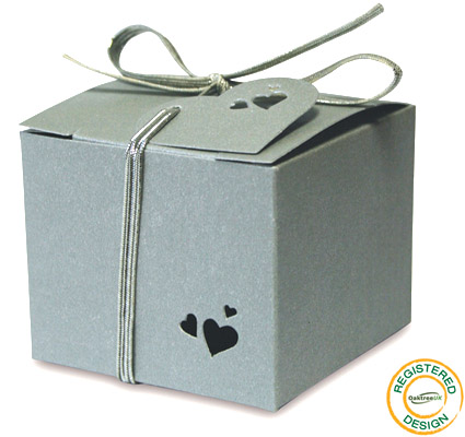 Gift Box Heart Pearl Silver (pack 5pcs) - Gift Boxes / Bags