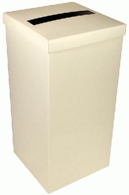 Wedding Post Box with Lid 24cm x 24cm x 49.5cm Ivory - Accessories
