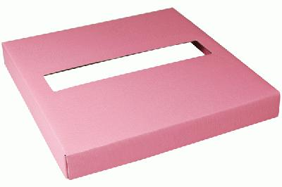 Wedding Post Box Lid 25cm x 25cm x 3cm Lt. Pink - Accessories