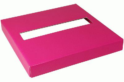 Wedding Post Box Lid 25cm x 25cm x 3cm Fuchsia - Accessories
