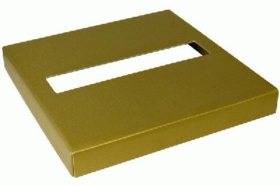 Wedding Post Box Lid 25cm x 25cm x 3cm Gold - Accessories