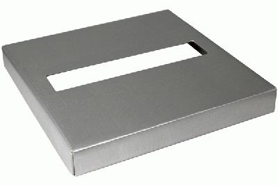 Wedding Post Box Lid 25cm x 25cm x 3cm Silver - Accessories