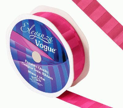 Eleganza Satin Vogue Ribbon 20mm x 10m Fuchsia - Ribbons