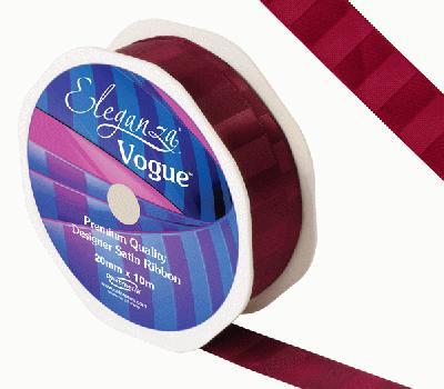 Eleganza Satin Vogue Ribbon 20mm x 10m Claret - Ribbons