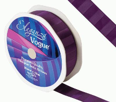 Eleganza Satin Vogue Ribbon 20mm x 10m Plum - Ribbons