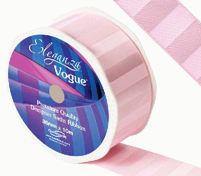 Eleganza Satin Vogue Ribbon 38mm x 10m Light Pink - Ribbons