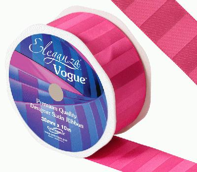 Eleganza Satin Vogue Ribbon 38mm x 10m Fuchsia - Ribbons