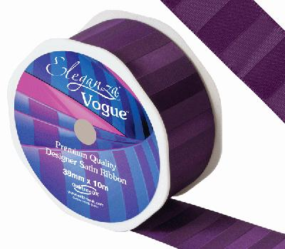 Eleganza Satin Vogue Ribbon 38mm x 10m Plum - Ribbons