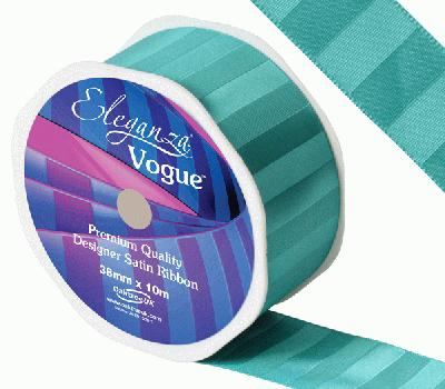 Eleganza Satin Vogue Ribbon 38mm x 10m Teal - Ribbons