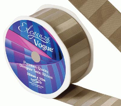 Eleganza Satin Vogue Ribbon 38mm x 10m Cappuccino - Ribbons