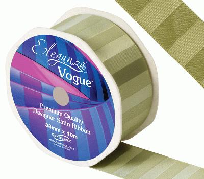 Eleganza Satin Vogue Ribbon 38mm x 10m Willow - Ribbons