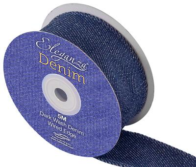 Eleganza Denim Ribbon 38mm x 5m - Ribbons