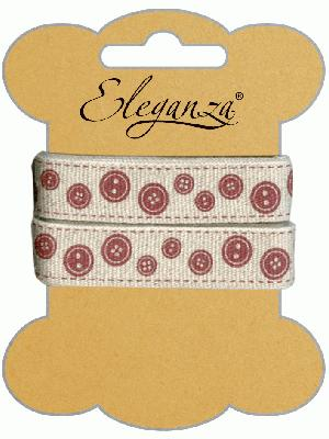 Eleganza Craft Spotted Buttons x 6 - Ribbons