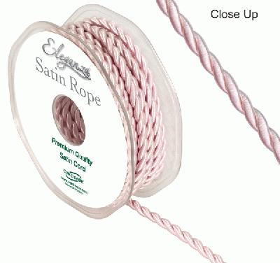 4.5mm Satin Rope Light Pink - Ribbons