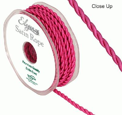 4.5mm Satin Rope Fuchsia - Ribbons