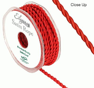 4.5mm Satin Rope Red - Ribbons