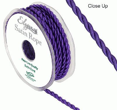 4.5mm Satin Rope Purple - Ribbons