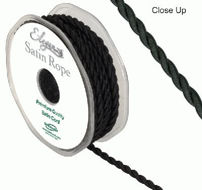 4.5mm Satin Rope Black - Ribbons
