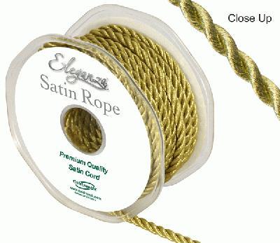 5.5mm Satin Rope Gold - Ribbons