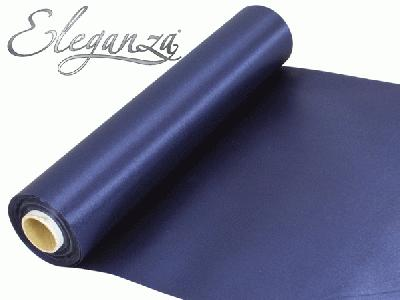Satin Fabric 29cm x 20m - Navy Blue - Organza / Fabric