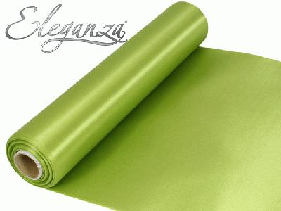 Satin Fabric 29cm x 20m - Apple Green - Organza / Fabric