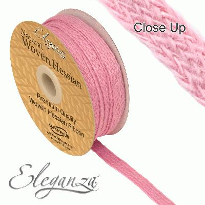 Eleganza Woven Hessian 10mm x 10m Lt. Pink No.21 - Ribbons
