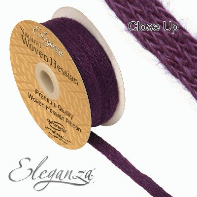 Eleganza Woven Hessian 10mm x 10m Purple No.36 - Ribbons