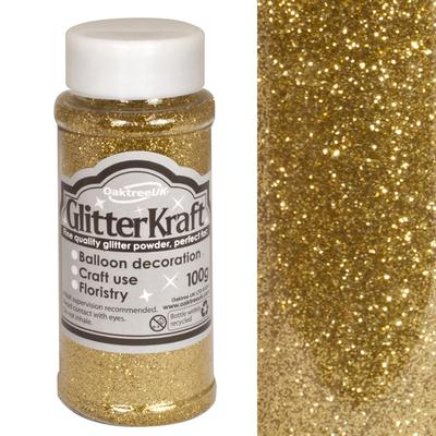 Glitter Kraft Fine Glitter 100g Bottle Metallic Gold No.65 - Craft