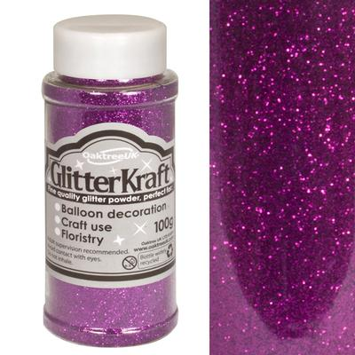 Glitter Kraft Fine Glitter 100g Bottle Amethyst No.38 - Craft