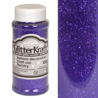Glitter Kraft Fine Glitter 100g Bottle Purple No.36 - Craft