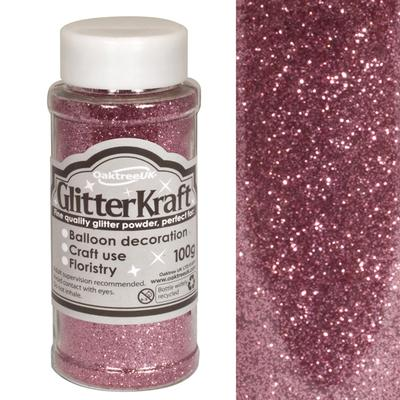 Glitter Kraft Fine Glitter 100g Bottle Lt. Pink No.21 - Craft