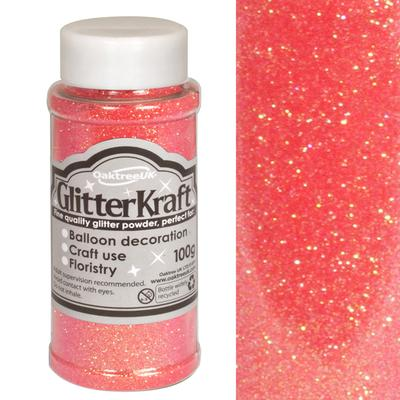 Glitter Kraft Fine Glitter 100g Bottle Sugar Pink No.44 - Craft