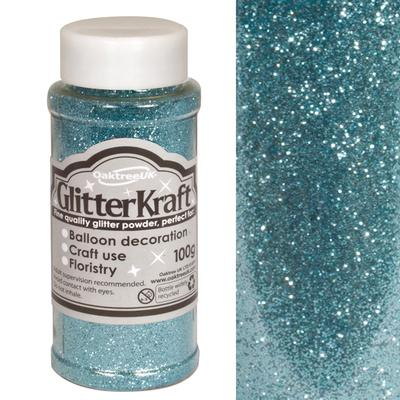 Glitter Kraft Fine Glitter 100g Bottle Lt. Blue No.25 - Craft