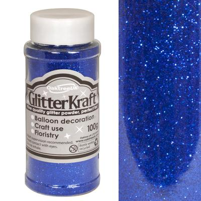 Glitter Kraft Fine Glitter 100g Bottle Blue No.18 - Craft