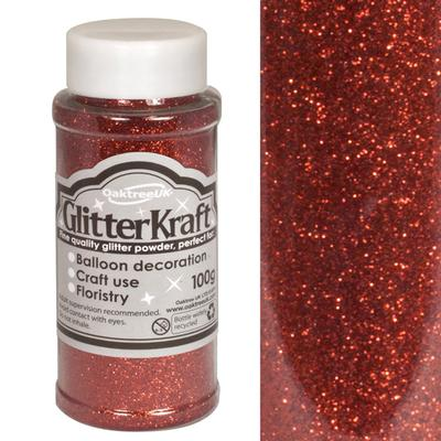 Glitter Kraft Fine Glitter 100g Bottle Red No.16 - Craft