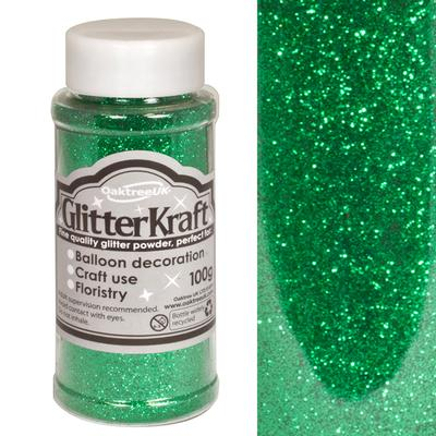 Glitter Kraft Fine Glitter 100g Bottle Emerald No.15 - Craft