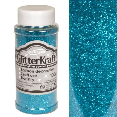 Glitter Kraft Fine Glitter 100g Bottle Turquoise No.55 - Craft