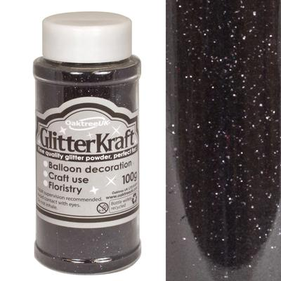 Glitter Kraft Fine Glitter 100g Bottle Black Quartz No.39 - Craft