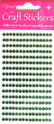 Eleganza Craft Stickers 4mm 240 gems Green No.50 - Craft