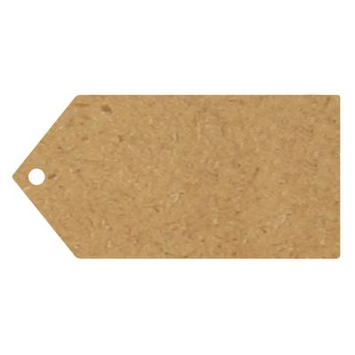Eleganza Greeting Tags 100mm x 50mm Craft Finish Plain x 10pcs - Craft