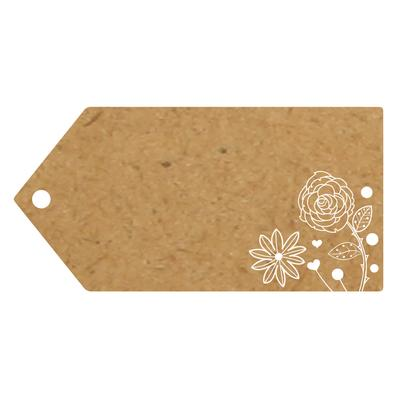 Eleganza Greeting Tags 100mm x 50mm Craft Finish Design No.501 x 10pcs - Craft