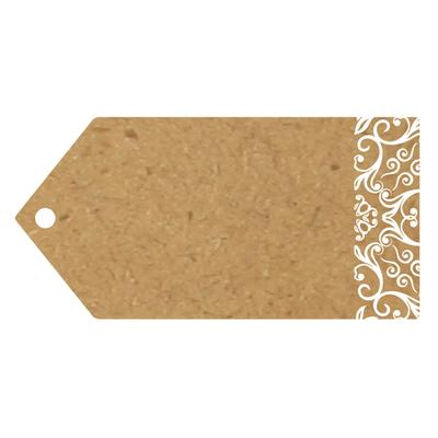 Eleganza Greeting Tags 100mm x 50mm Craft Finish Design No.502 x 10pcs - Craft