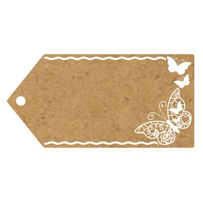 Eleganza Greeting Tags 100mm x 50mm Craft Finish Design No.503 x 10pcs - Craft