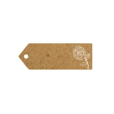 Eleganza Greeting Tags 70mm x 25mm Craft Finish Design No.501 x 10pcs - Craft