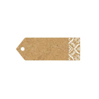 Eleganza Greeting Tags 70mm x 25mm Craft Finish Design No.502 x 10pcs - Craft