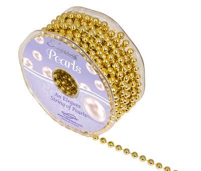 Eleganza Pearls 6mm x 10m Metallic Gold - Accessories