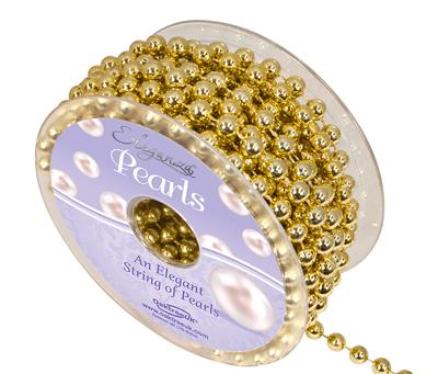 Eleganza Pearls 8mm x 10m Metallic Gold - Accessories
